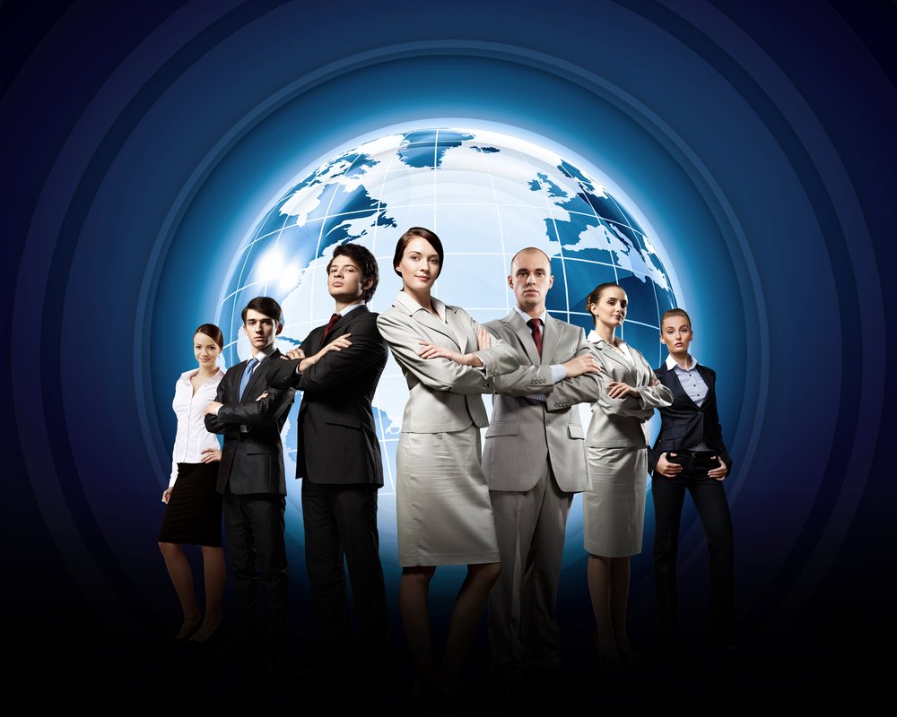 Group of successful confident businesspeople. Globalization concept-1